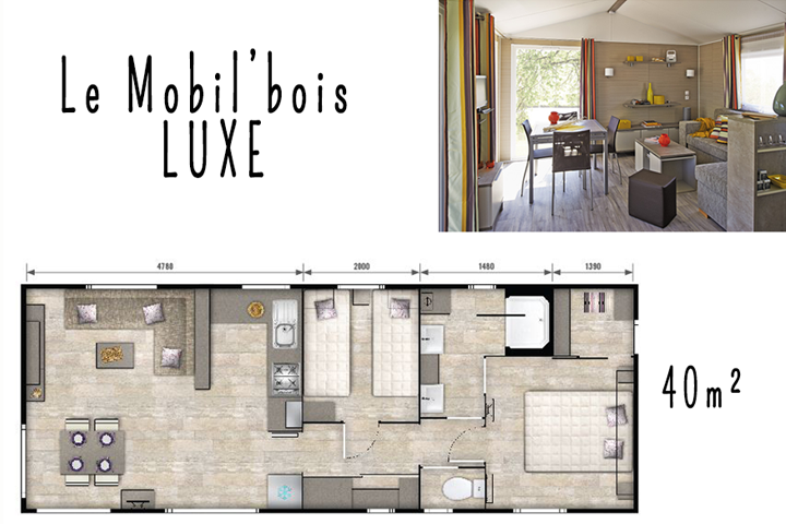 Mobile home bois confort