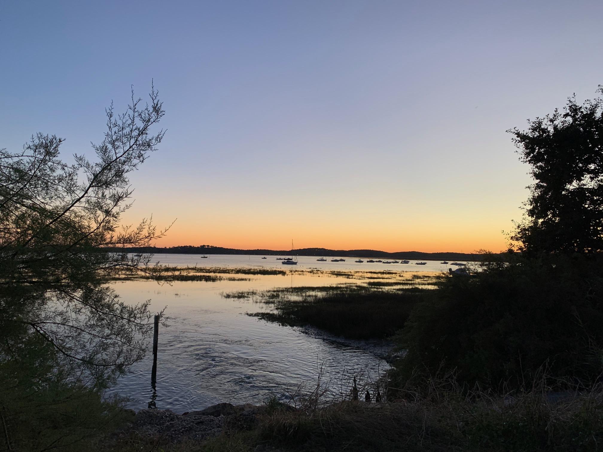 coucher de soleil Ares La Cigale
