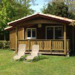 Chalet bois Cabane Camping La Cigale