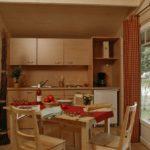 kitchen Cabane large wooden cabin
