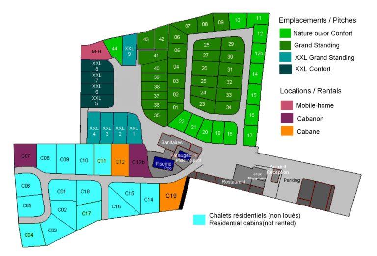 plan Camping La Cigale 2021