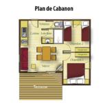 plan Cabanon chalet Bassin d'Arcachon La Cigale